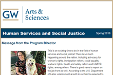 2018 CCAS GW Human services & social justice program newsletter