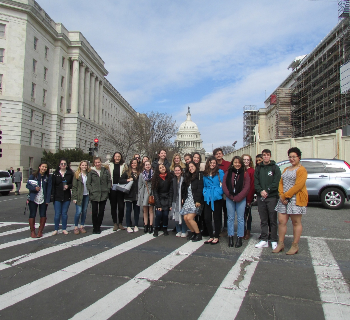 The HSSJ 1117 class in front of Capitol Hill